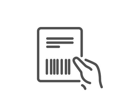 Parcel invoice line icon on  Delivery document sign.