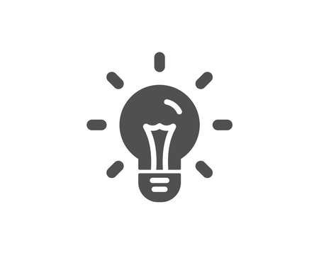 Idea simple icon Light bulb sign. 向量圖像