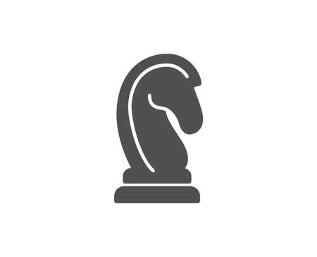 Chess Knight simple icon. Marketing strategy symbol. Business targeting sign. Quality design elements. Classic style. Vector