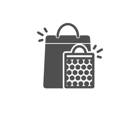 Shopping bags simple icon. Sale Marketing symbol. Special offer sign. Quality design elements. Classic style. Vector Illustration