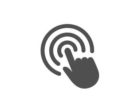 Hand Klicken Sie auf das einfache Symbol. Finger berühren Zeichen. Cursor-Zeigersymbol. Hochwertige Design-Elemente. Klassischer Stil. Vektor
