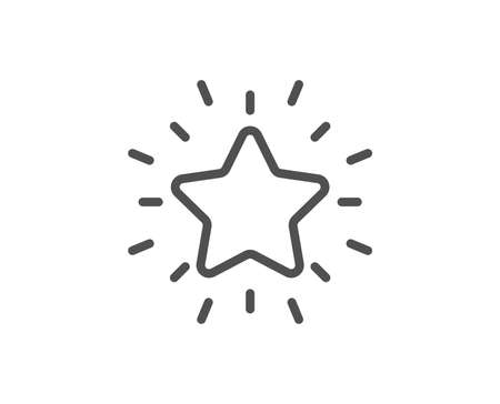 Rank star line icon. Success reward symbol. Best result sign. Quality design element. Editable stroke. Vector Stock Illustratie