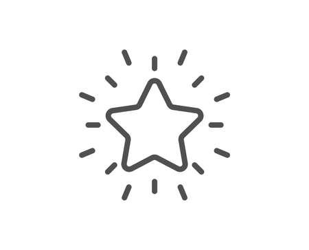 Rank star line icon. Success reward symbol. Best result sign. Quality design element. Editable stroke. Vector Illustration