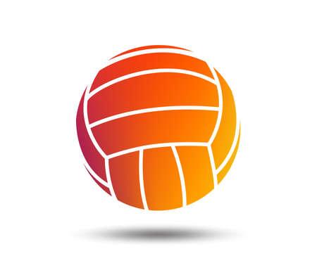 Volleyball sign icon. Beach sport symbol. Blurred gradient design element. Vivid graphic flat icon. Vector illustration. Vettoriali