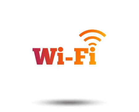 Free wifi sign. Wifi symbol. Wireless Network icon. Wifi zone. Blurred gradient design element. Vivid graphic flat icon. Vector illustration. Illustration