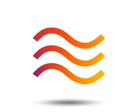 L & # 39 ; eau signent icône de signe. icône graphique plat. illustration vectorielle plane Banque d'images - 96329811