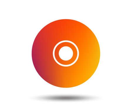 CD or DVD sign icon. Compact disc symbol. Blurred gradient design element. Vivid graphic flat icon. Vector illustration. Illustration