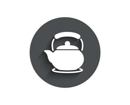 Teapot simple icon.  イラスト・ベクター素材