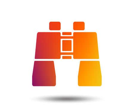 Binocular sign icon. Search symbol. Find information. Blurred gradient design element. Vivid graphic flat icon. Vector