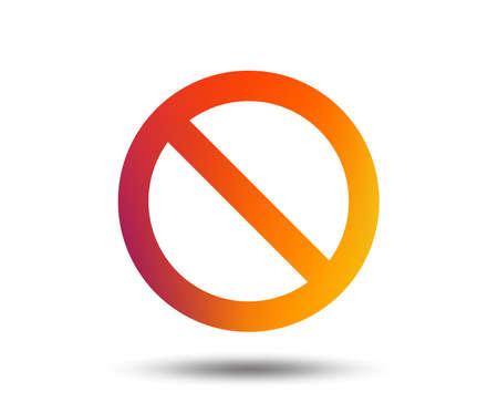 Blacklist sign icon. User not allowed symbol. Blurred gradient design element. Vivid graphic flat icon. Vector