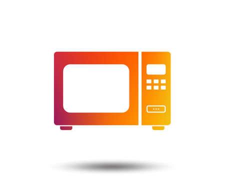 電子レンジの看板アイコン。キッチン電気ストーブのシンボル。ぼやけたグラデーションのデザイン要素。鮮やかなグラフィックフラットアイコン