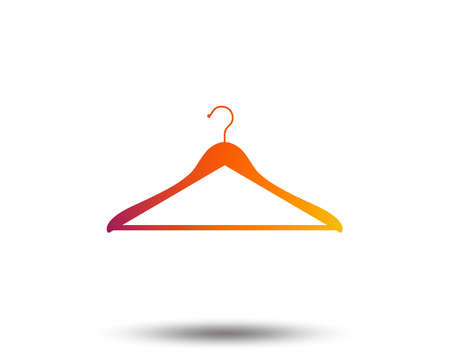 Hanger sign icon. Cloakroom symbol. Blurred gradient design element. Vivid graphic flat icon. Vector