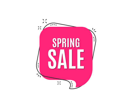 Spring Sale. Special offer price sign. Advertising Discounts symbol. Speech bubble tag. Trendy graphic design element. Vector