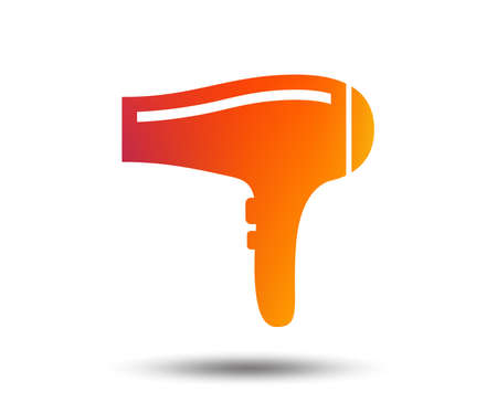 Hairdryer sign icon. Hair drying symbol. Blurred gradient design element. Vivid graphic flat icon. Vector Illusztráció