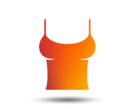 Women T-shirt sign icon with undergarment