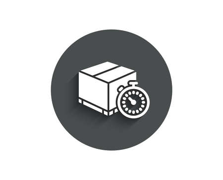 Shipping tracking simple icon. Delivery timer sign. Express logistics symbol.