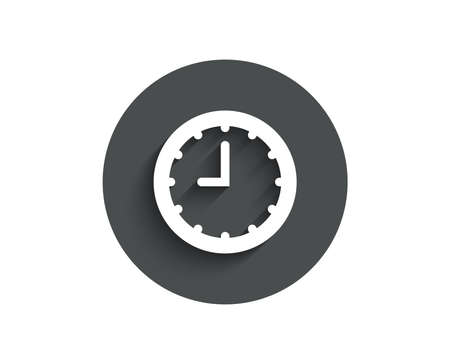 Clock simple icon. Time sign, Office Watch or Timer symbol. Illustration