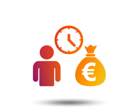 Bank loans sign icon. Get money fast symbol. Blurred gradient design element. Vivid graphic flat icon. Illustration