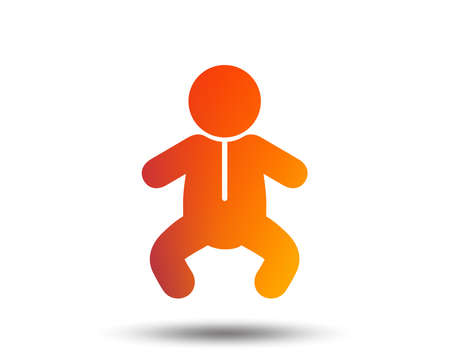 Baby infant sign icon. Toddler boy in pajamas or crawlers body symbol.