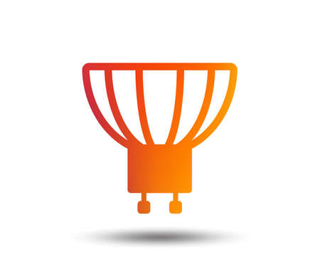 Light bulb icon.  Blurred gradient design element.