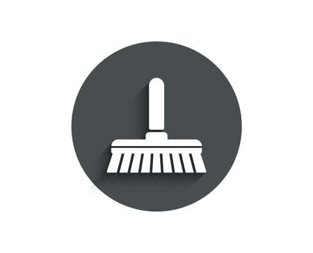 Cleaning mop simple icon. Sweep or Wash a floor symbol.