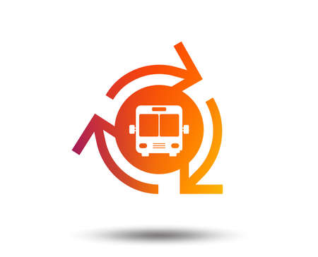 Bus shuttle icon. Public transport stop symbol.