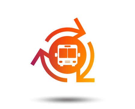 Bus shuttle icon. Public transport stop symbol.