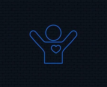 Icône de néon pour l & # 39 ; amour de l & # 39 ; amour. des mains de l & Banque d'images - 97217776