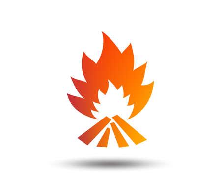 Fire flame sign icon. Heat symbol. 일러스트