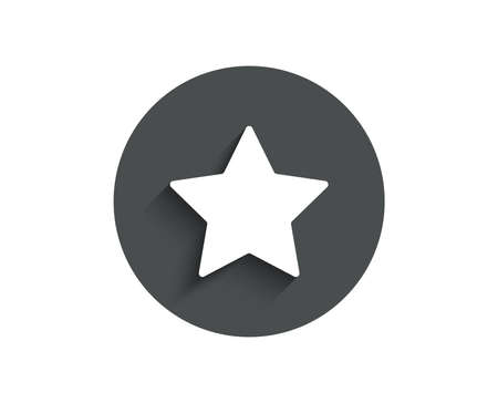 Star simple icon. Best rank sign. Bookmark or Favorite symbol. Vettoriali