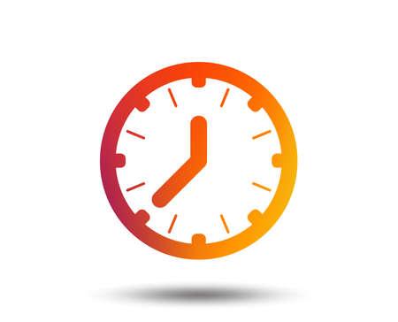 Clock time sign icon. Mechanical watch symbol. Blurred gradient design element. Vivid graphic flat icon. 일러스트