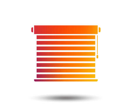 Louvers sign icon. Window blinds or jalousie symbol. Blurred gradient design element. Vectores
