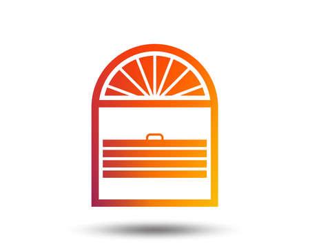ルーバース・プリッセのサインアイコン。ウィンドウブラインドまたはジャロジー記号。ぼやけたグラデーションのデザイン要素。