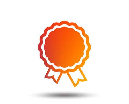 Award icon. Winner achievement sign.