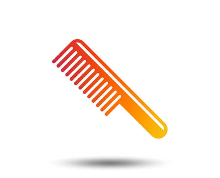 Comb hair sign icon. Barber symbol. Blurred gradient design element. Vivid graphic flat icon. Illustration