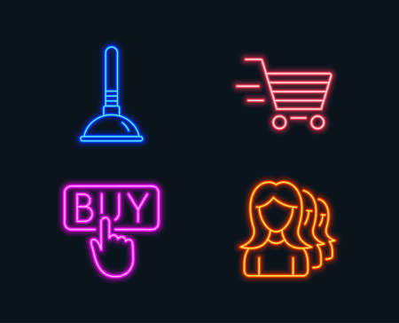 Online buying illustration concept