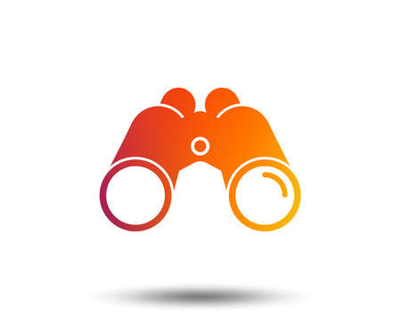 Binoculars icon.  Blurred gradient design element. Vivid graphic flat icon. Vector