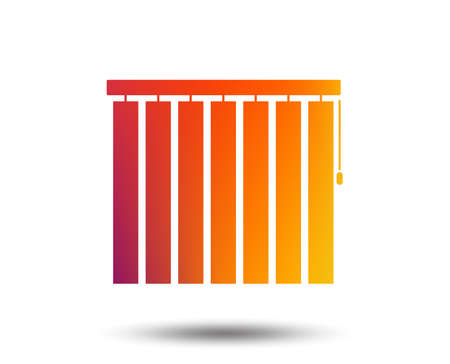 Louvers vertical sign icon. Window blinds or jalousie symbol. Blurred gradient design element. Vivid graphic flat icon. Vector Ilustracja