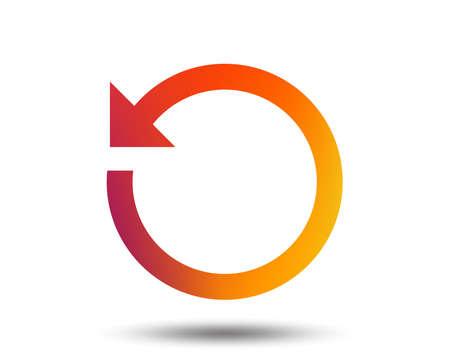 Repetir icono. Actualizar símbolo Signo de bucle Elemento de diseño degradado borroso. Icono plano gráfico vívido. Vector
