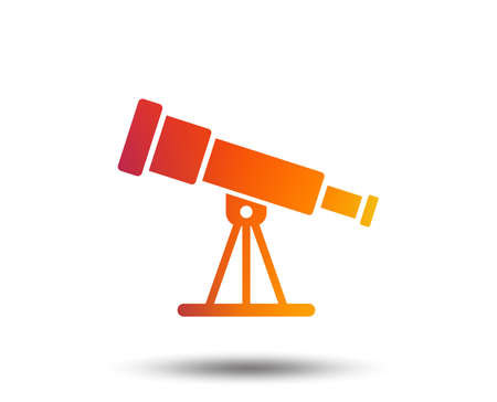 Telescope icon. Spyglass tool symbol. Blurred gradient design element. Vivid graphic flat icon. Vector