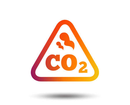 CO2 carbon dioxide formula sign icon. Chemistry symbol. Blurred gradient design element. Vivid graphic flat icon. Vector