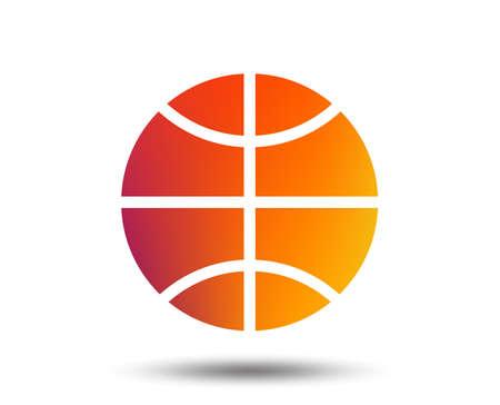 バスケットボールの記号アイコン。スポーツ記号。ぼやけたグラデーションのデザイン要素。鮮やかなグラフィックフラットアイコン。ベクトル