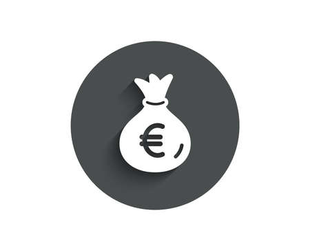 Money bag simple icon. Cash Banking currency sign.
