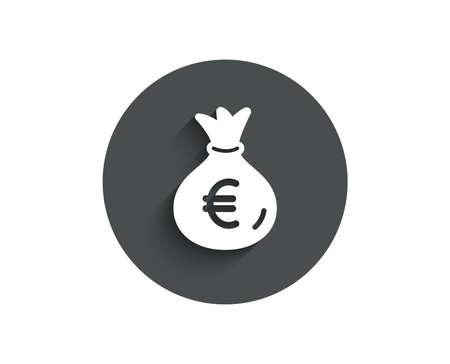 Icono simple de bolsa de dinero. Signo de moneda de banca en efectivo. Foto de archivo - 98303727