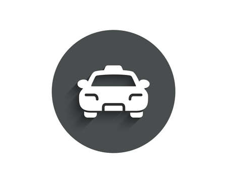 Taxi simple icon on  Client transportation sign. 일러스트