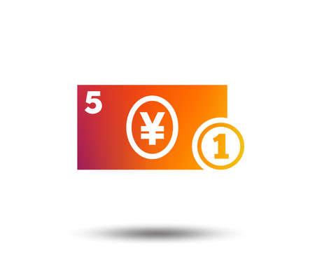Cash sign icon of Yen Money symbol isolated on plain background 向量圖像