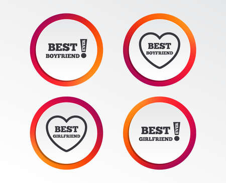 Best boyfriend and girlfriend icons  Info graphic design buttons. Stock fotó - 98348049