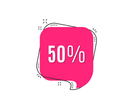 50% off Sale of Discount offer price sign. Special offer symbol.