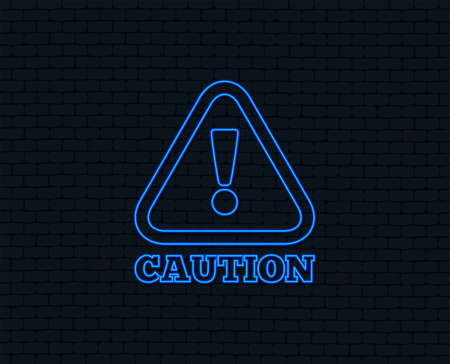 Attention caution sign icon with Exclamation mark.
