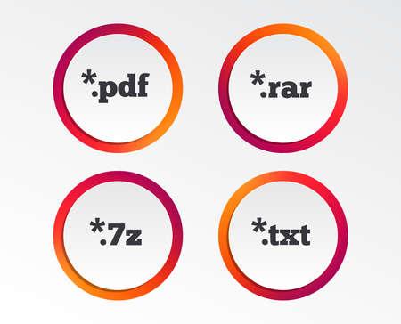 Icônes de document sur les extensions de fichier de symboles Banque d'images - 98352073